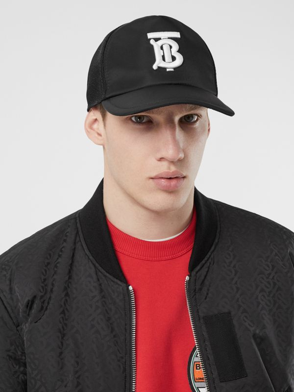 Monogram Motif Baseball Cap in Black | Burberry United Kingdom - cell image 3