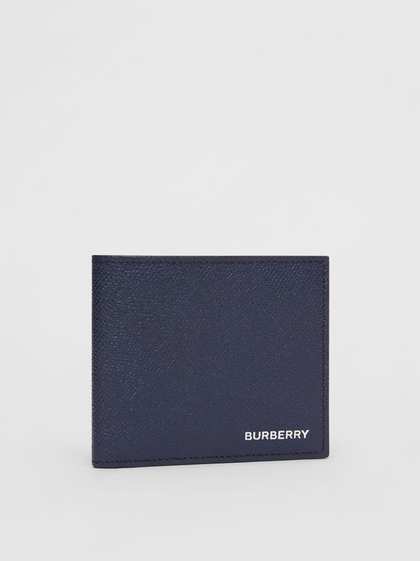 Grainy Leather International Bifold Coin Wallet in Regency Blue - Men | Burberry - cell image 3