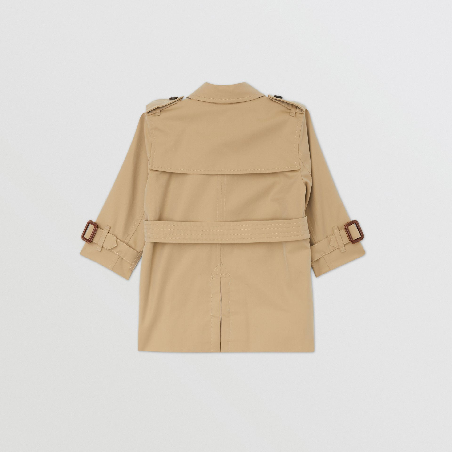 Cotton Gabardine Trench Coat in Honey - Children | Burberry Hong Kong S.A.R - gallery image 4