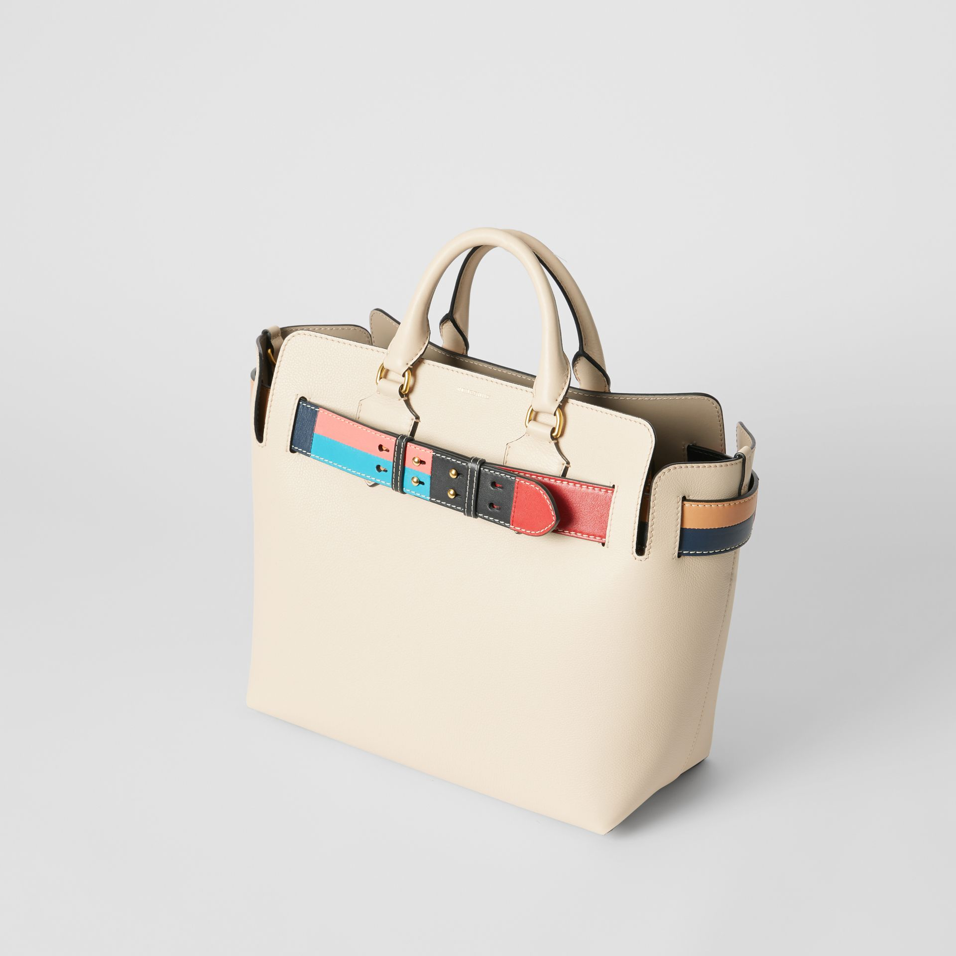 The Medium Leather Colour Block Detail Belt Bag in Limestone - Women | Burberry United Kingdom - gallery image 2