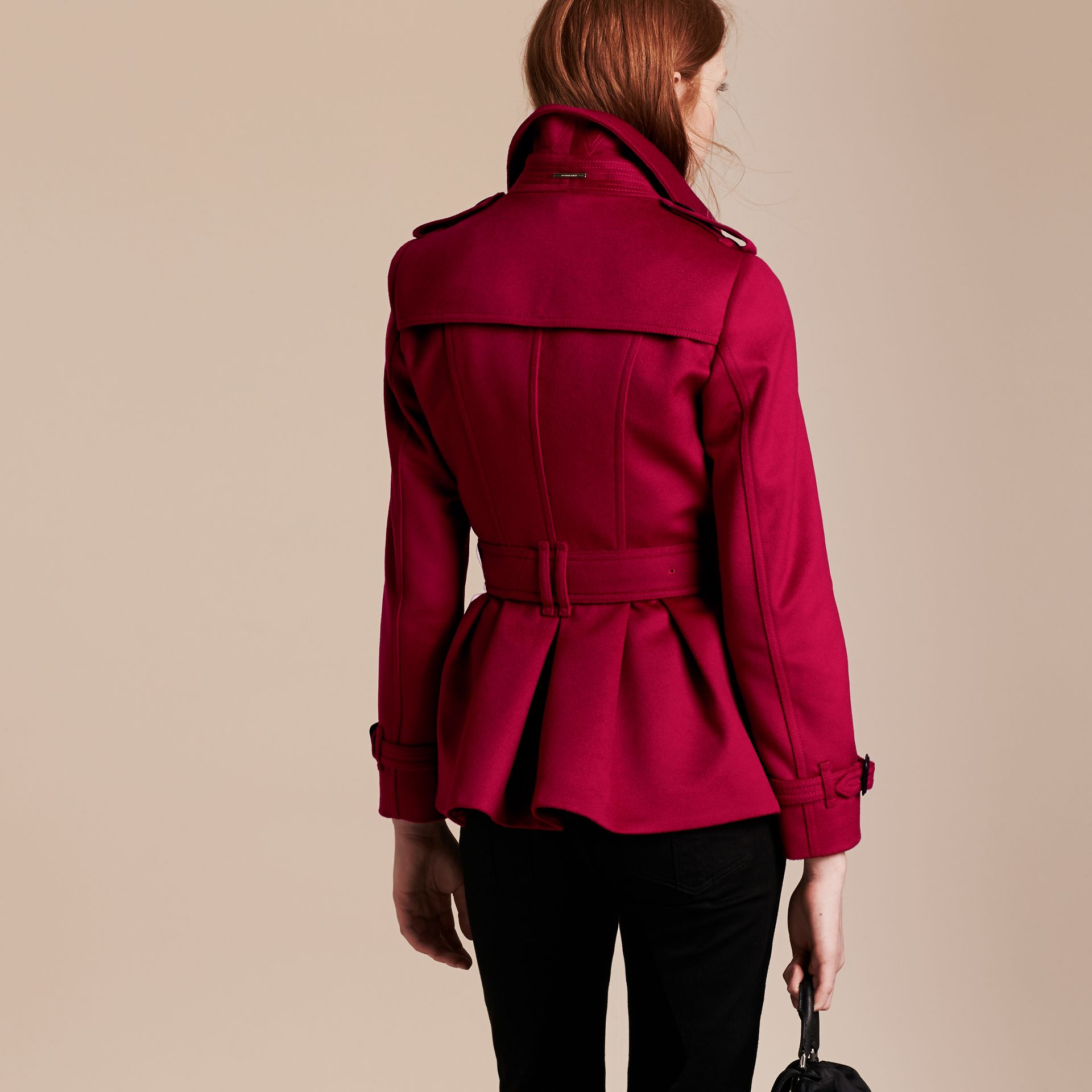Parade red Wool Cashmere Trench Jacket - gallery image 3