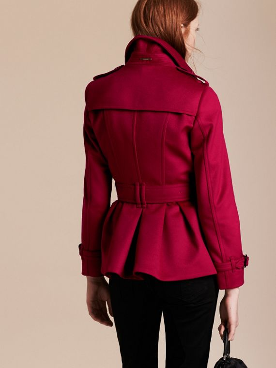 Parade red Wool Cashmere Trench Jacket - cell image 2