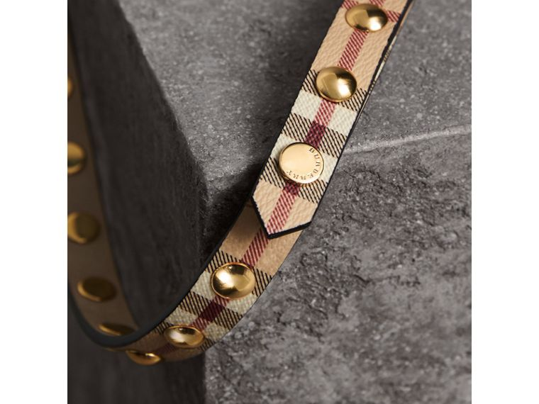Studded Haymarket Check Double-wrap Belt - Women | Burberry Canada - cell image 1