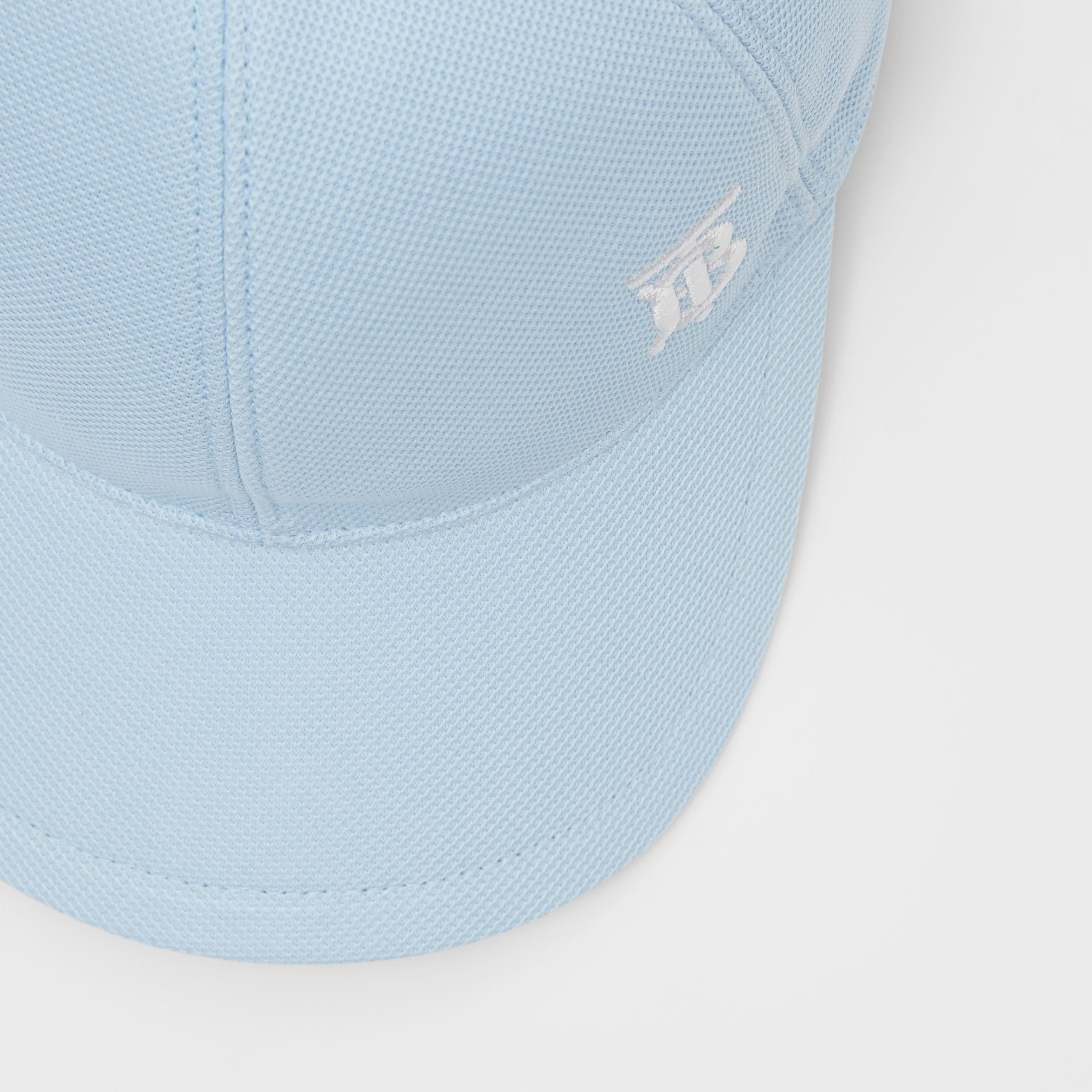Monogram Motif Baseball Cap in Pale Blue | Burberry - gallery image 1