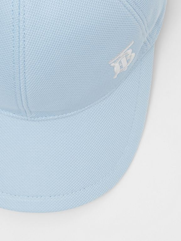 Monogram Motif Baseball Cap in Pale Blue | Burberry - cell image 1