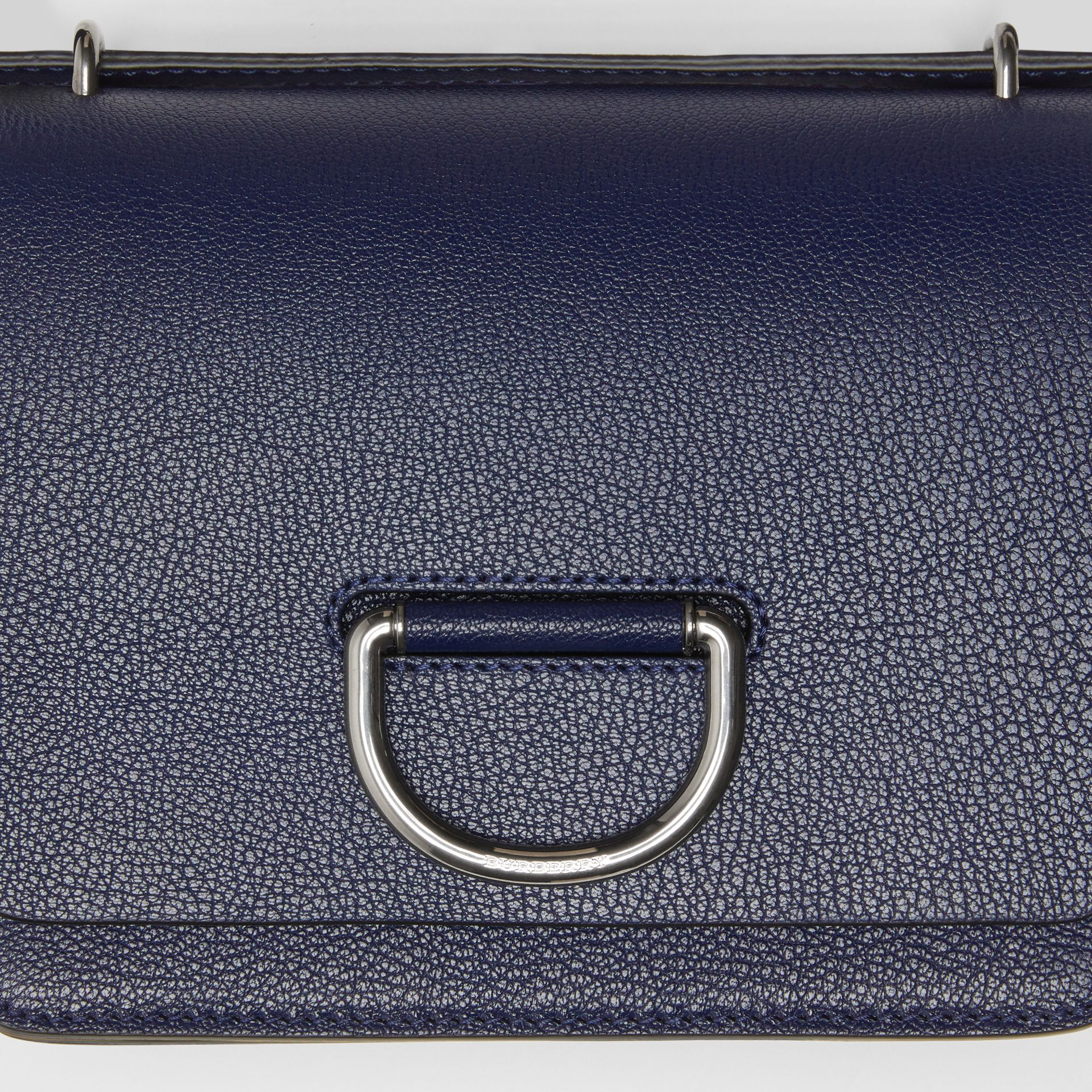 The Small Leather D-ring Bag in Regency Blue - Women | Burberry - gallery image 1