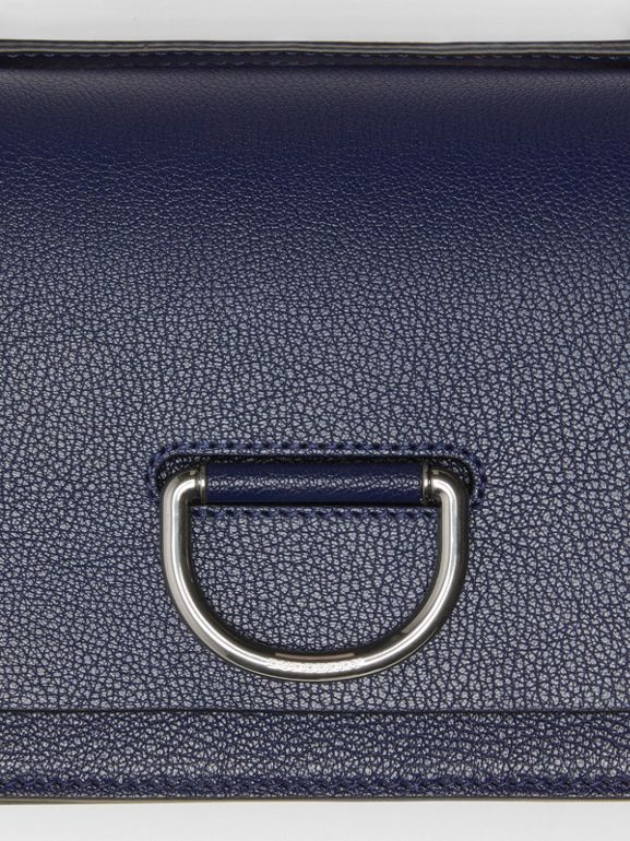 The Small Leather D-ring Bag in Regency Blue - Women | Burberry - cell image 1