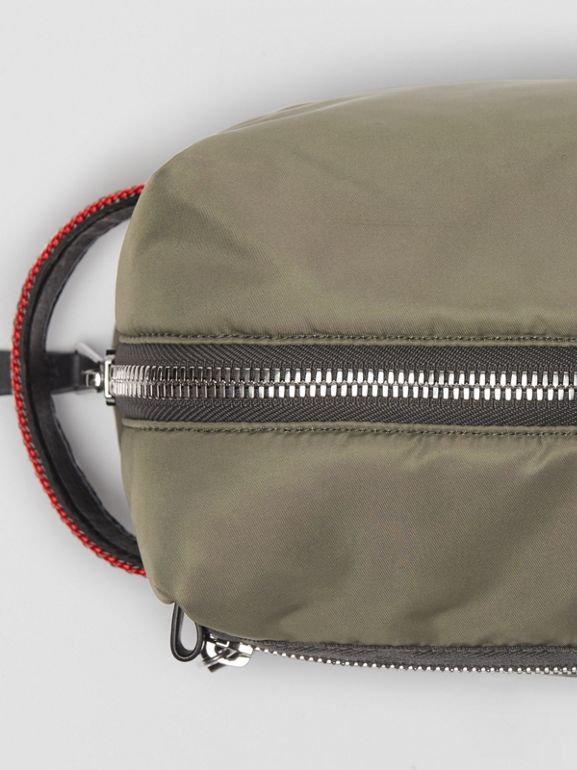 EKD Aviator Nylon and Leather Pouch in Celadon - Men | Burberry - cell image 1