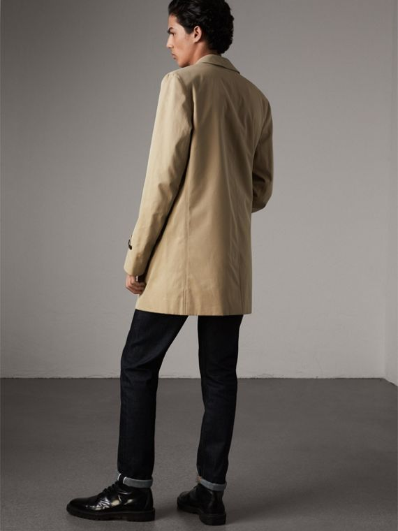 Cotton Gabardine Car Coat in Honey - Men | Burberry - cell image 2