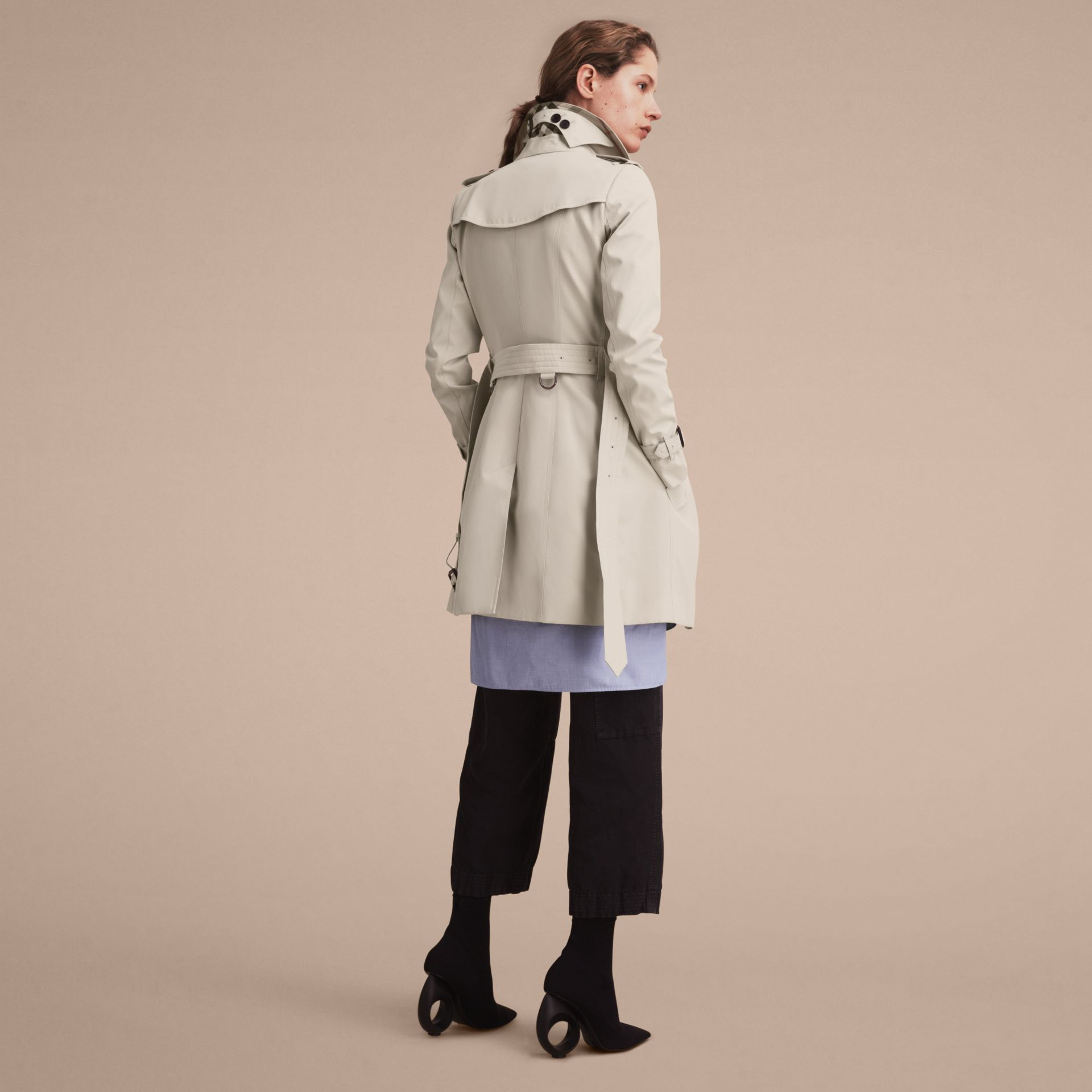 Stone The Chelsea – Mid-length Heritage Trench Coat Stone - gallery image 4