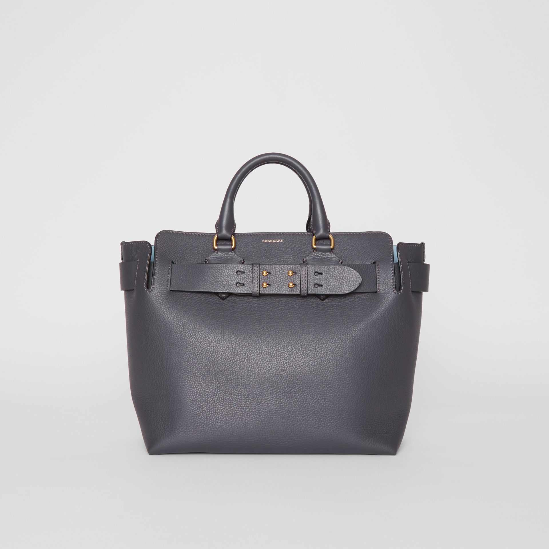 The Medium Leather Belt Bag in Charcoal Grey - Women | Burberry United Kingdom - gallery image 0