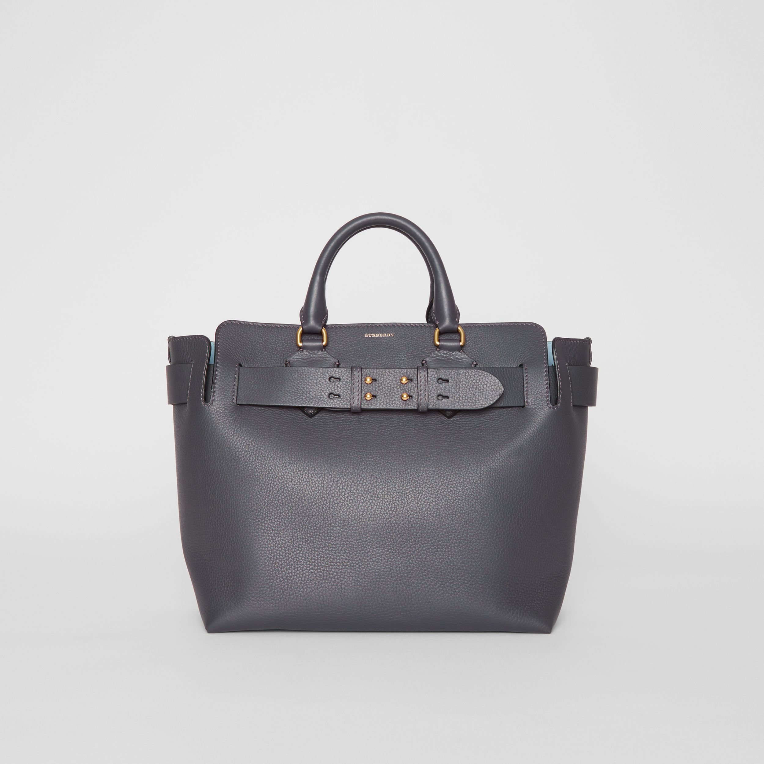 The Medium Leather Belt Bag in Charcoal Grey - Women | Burberry - 1