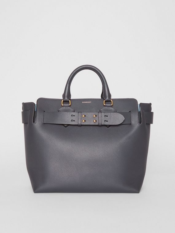 Borsa The Belt media in pelle (Grigio Antracite)