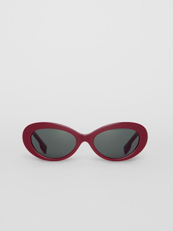 Cat-Eye-Sonnenbrille (Burgunderrot) - Damen | Burberry - cell image 3