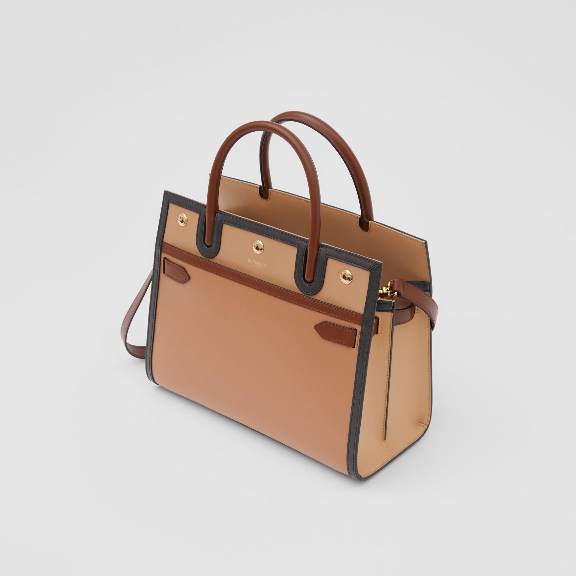 Small Leather Two-handle Title Bag in Soft Fawn - Women | Burberry - gallery image 3