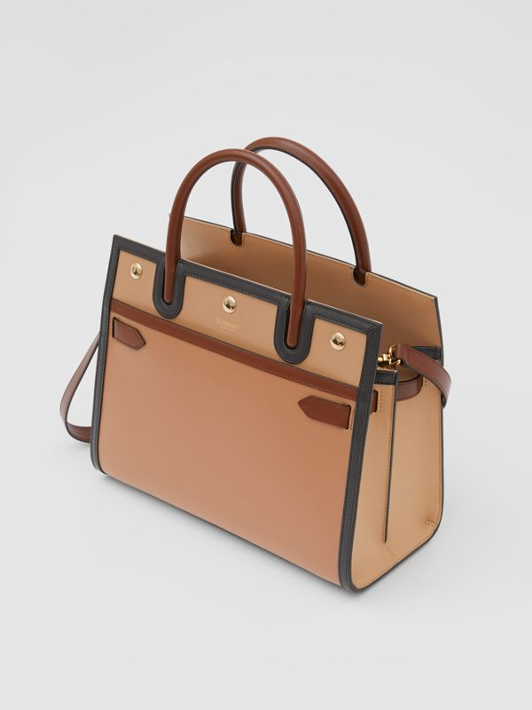 Small Leather Two-handle Title Bag in Soft Fawn - Women | Burberry - cell image 3