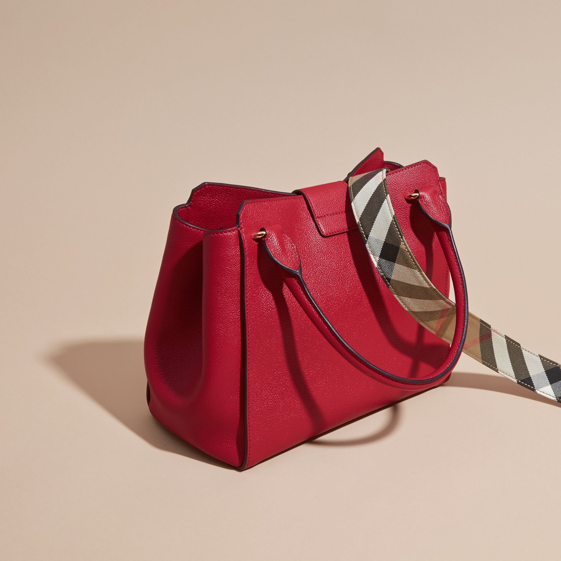 The Medium Buckle Tote in Grainy Leather in Parade Red - Women | Burberry - gallery image 5