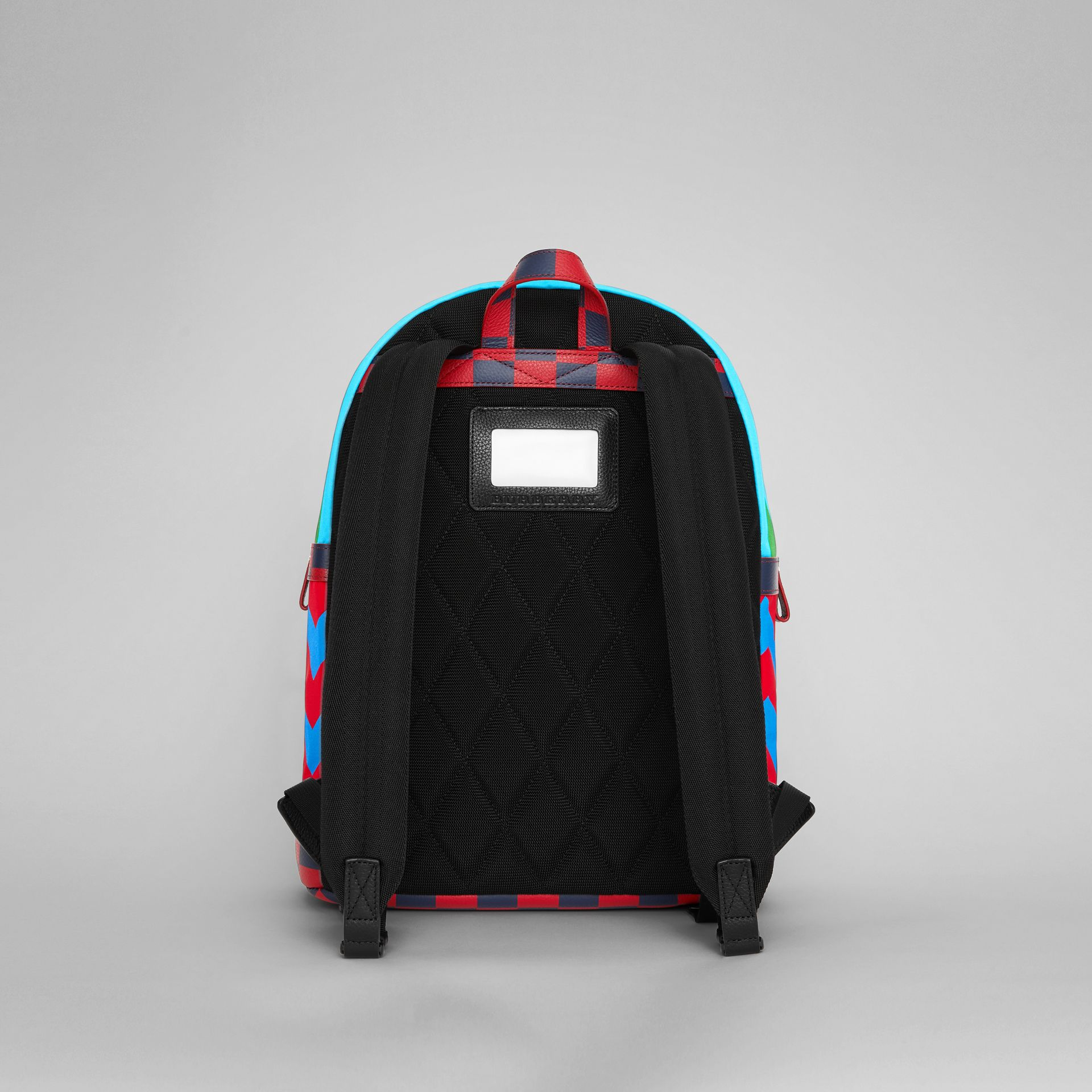 Graphic Print Nylon Backpack in Mineral Blue | Burberry - gallery image 5