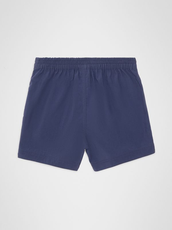 Drawcord Swim Shorts in Indigo - Children | Burberry - cell image 3