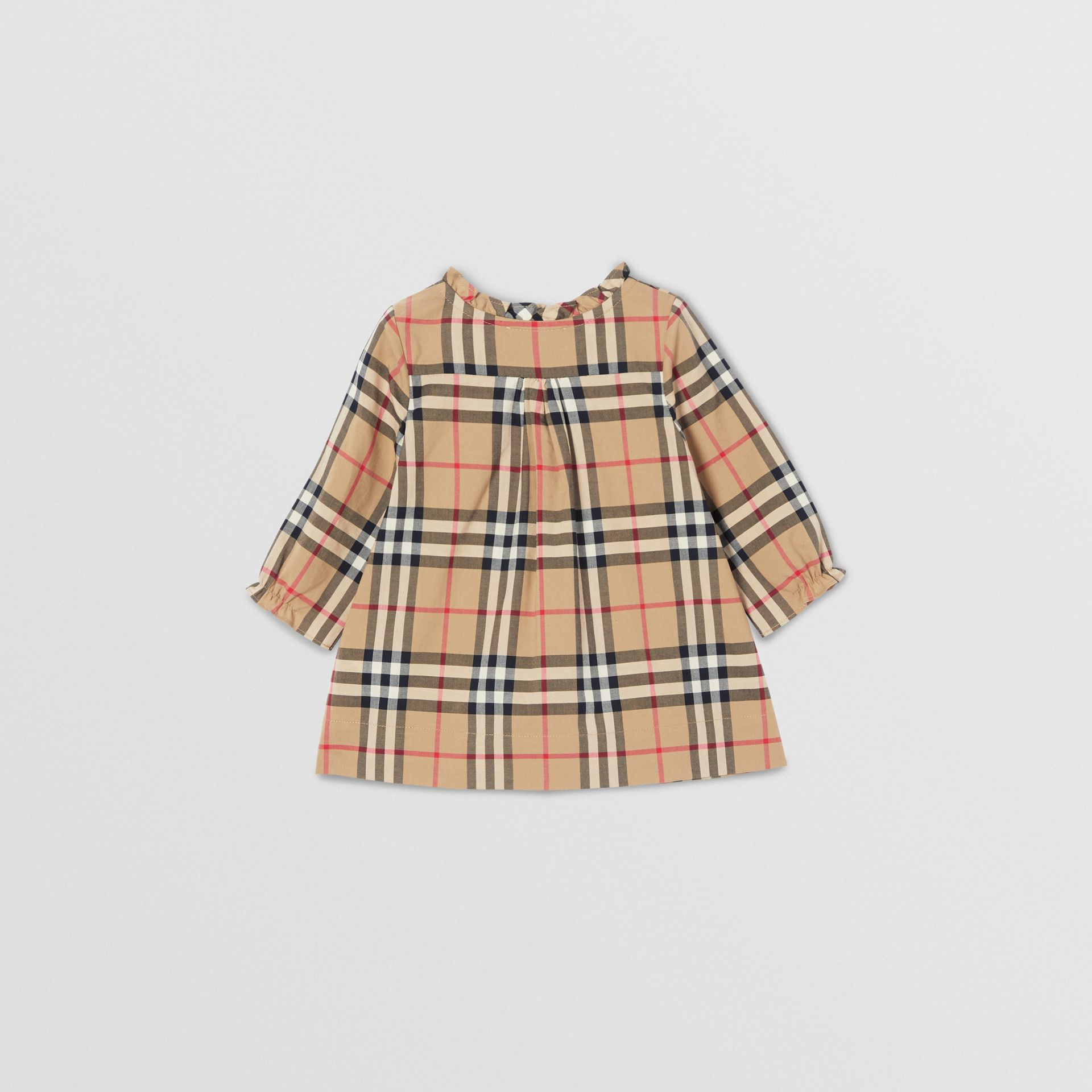 Vintage Check Cotton Dress with Bloomers in Archive Beige - Children   Burberry United Kingdom - gallery image 3
