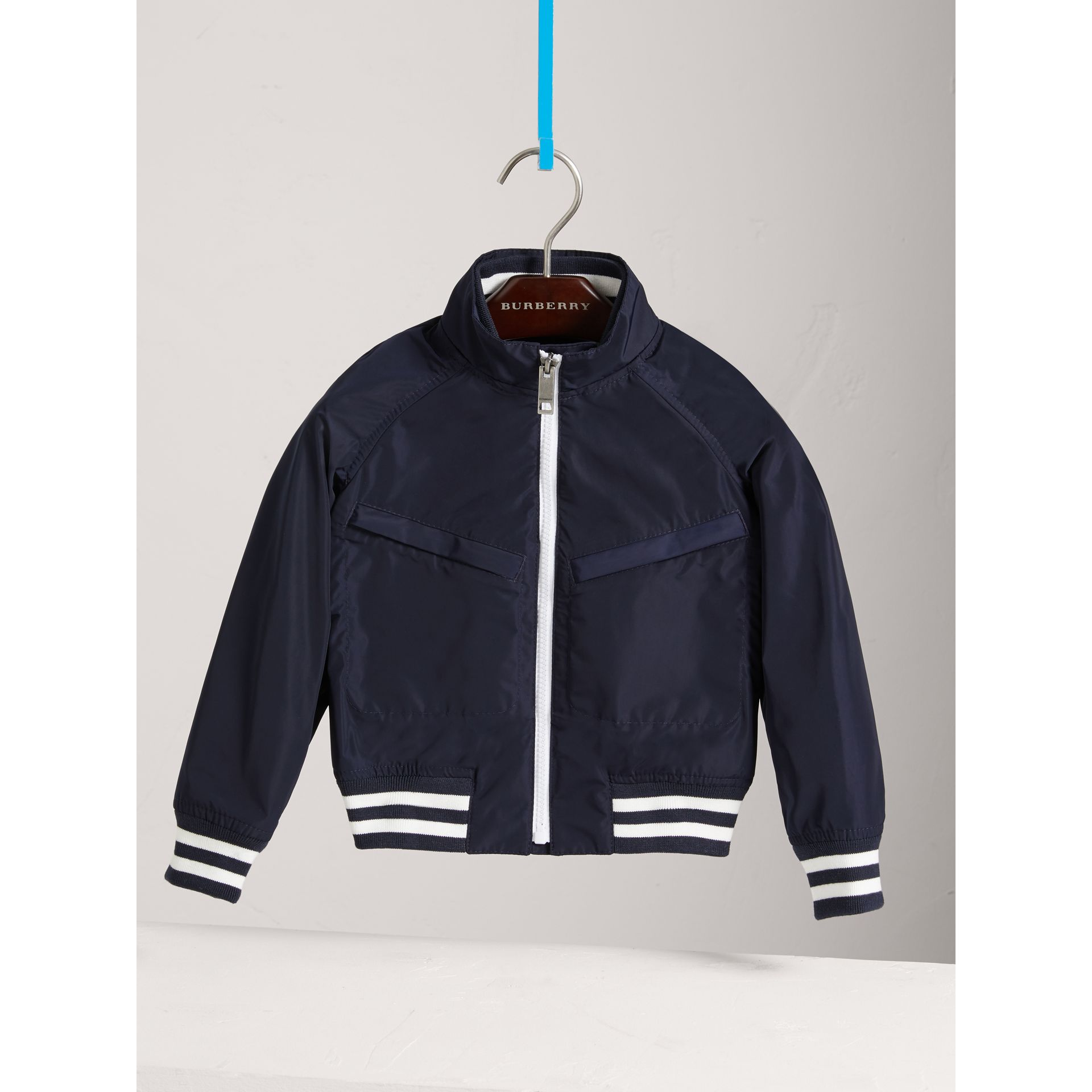 Lightweight Bomber Jacket in Navy - Boy | Burberry Canada - gallery image 0