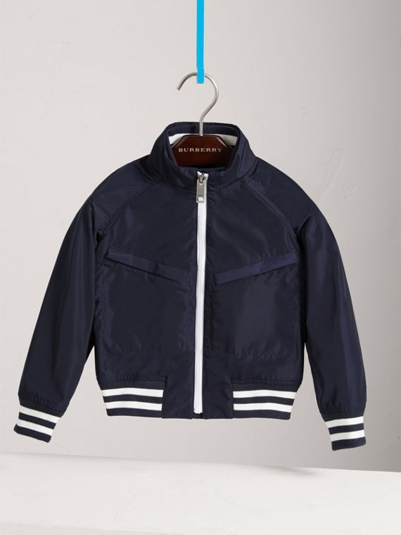 Lightweight Bomber Jacket in Navy