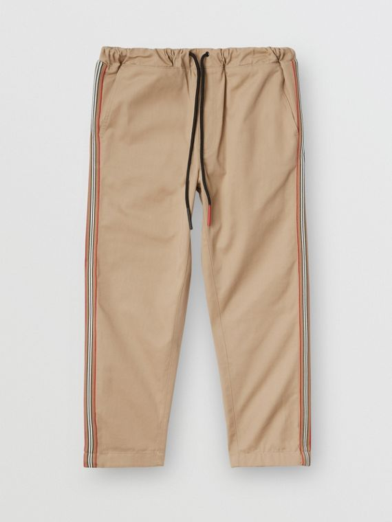 Icon Stripe Detail Cotton Chinos in Honey