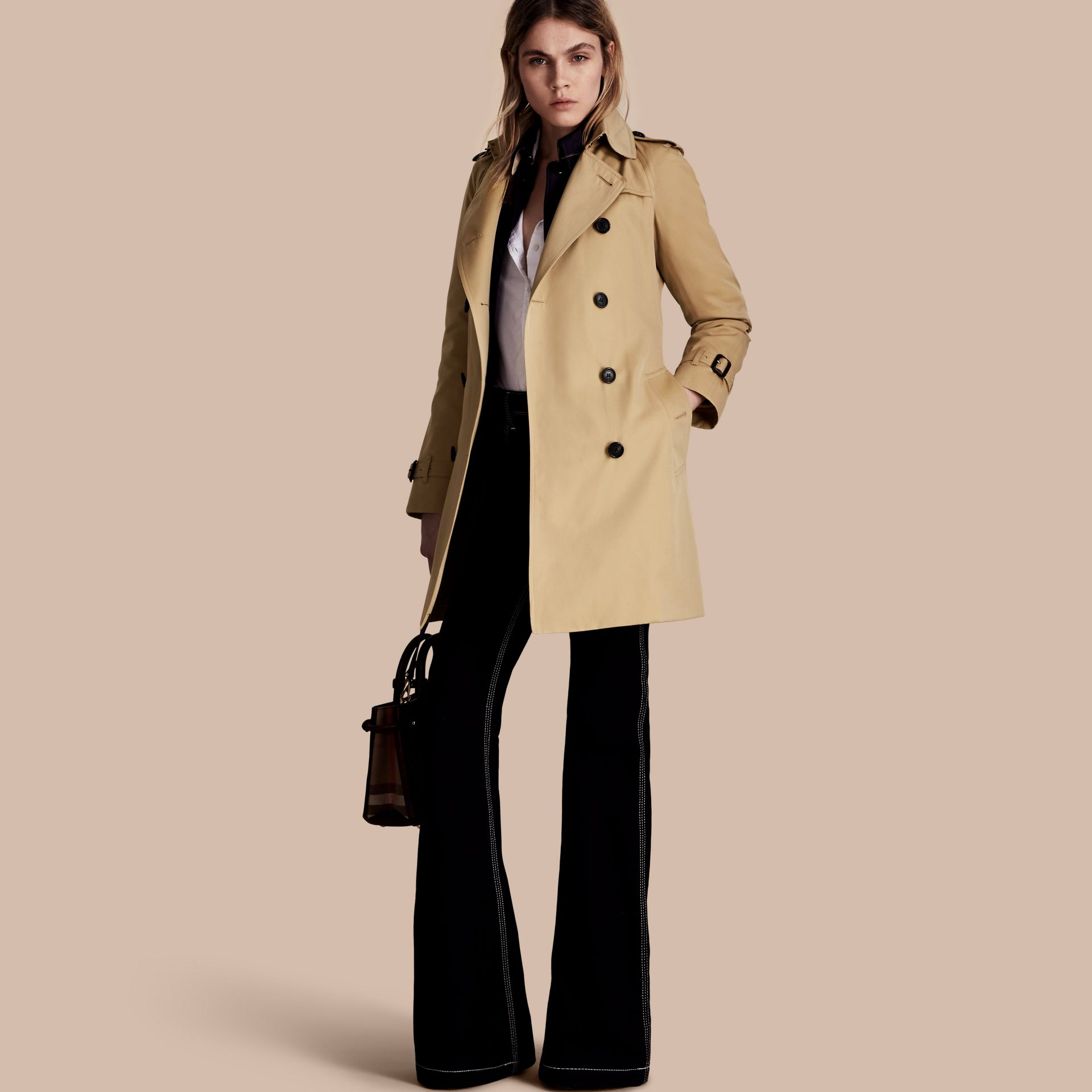 Honey The Westminster – Mid-Length Heritage Trench Coat Honey - gallery image 1