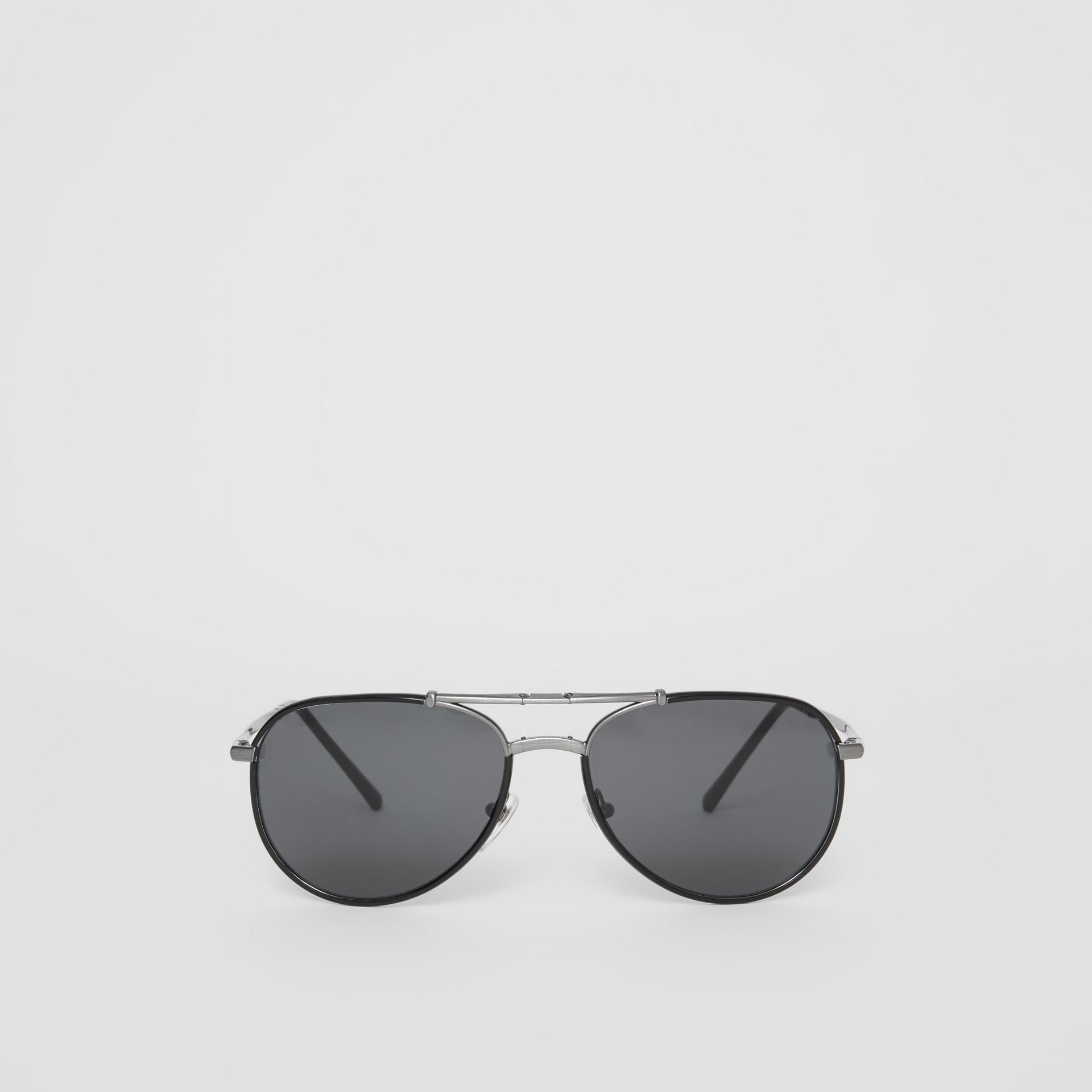 Folding Pilot Sunglasses in Black - Men | Burberry Australia - gallery image 0