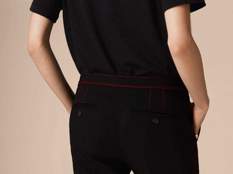 Black Stretch Boot-cut Trousers - cell image 4