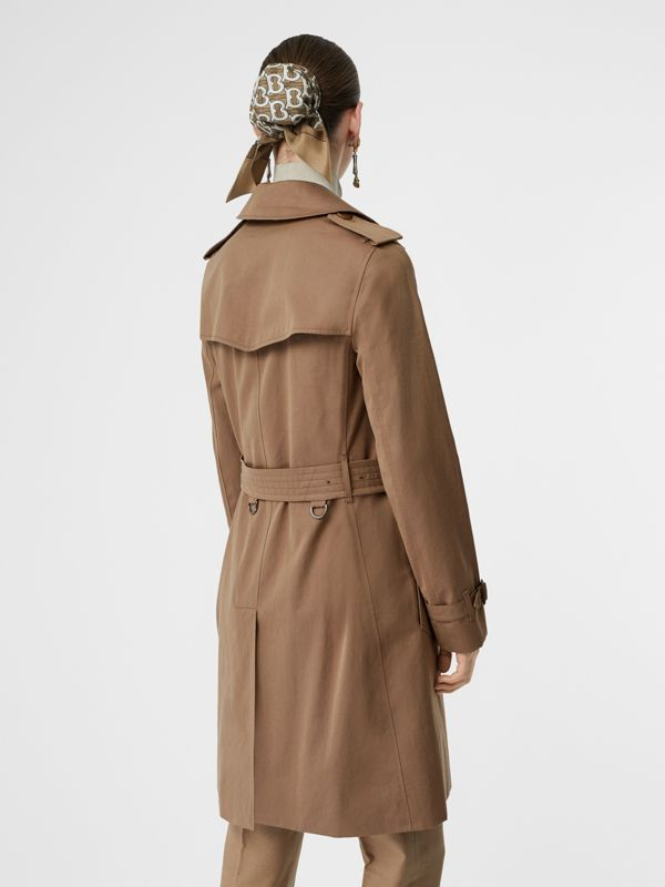 Tropical Gabardine Trench Coat in Taupe - Women | Burberry United Kingdom - cell image 2