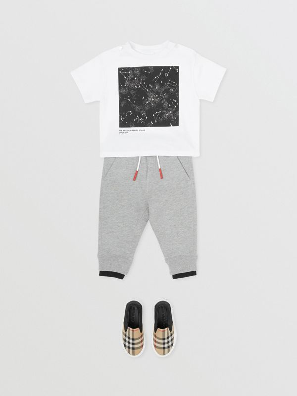 Star Print Cotton T-shirt in White - Children | Burberry Singapore - cell image 3