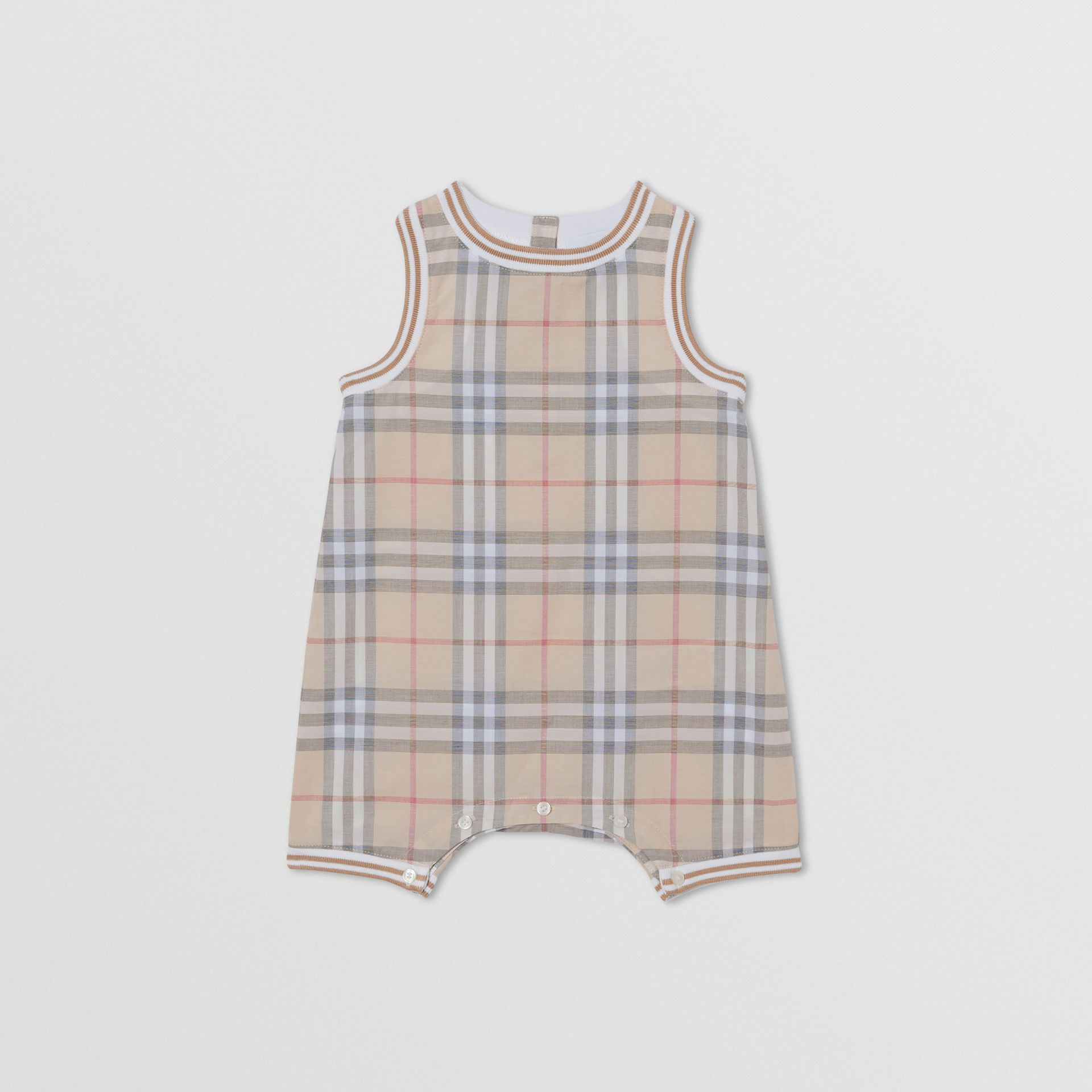 Vintage Check Cotton Three-piece Baby Gift Set in Pale Stone - Children | Burberry Hong Kong S.A.R - gallery image 2
