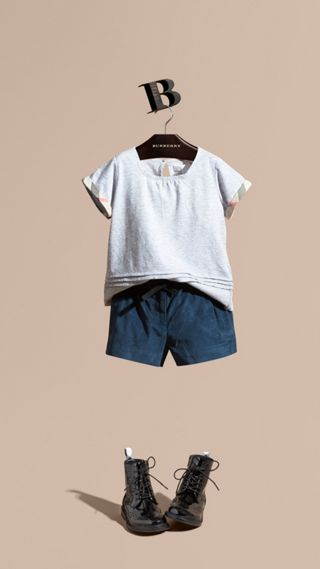 Belted Corduroy Shorts