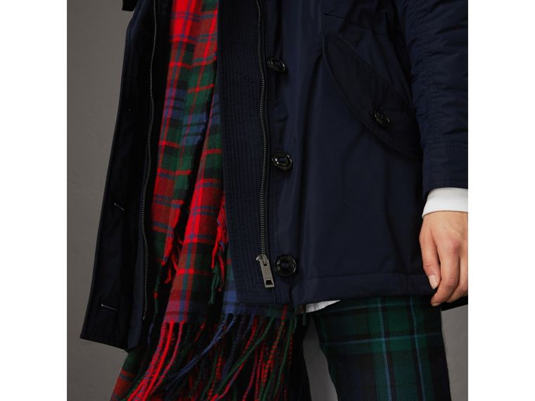 Technical Taffeta Hooded Parka in Navy - Women | Burberry Australia - cell image 1