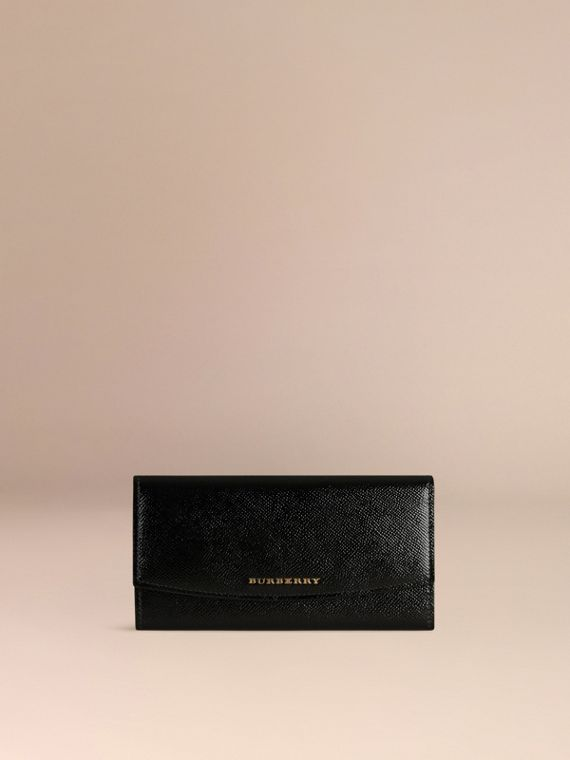Black Patent London Leather Continental Wallet Black - cell image 2