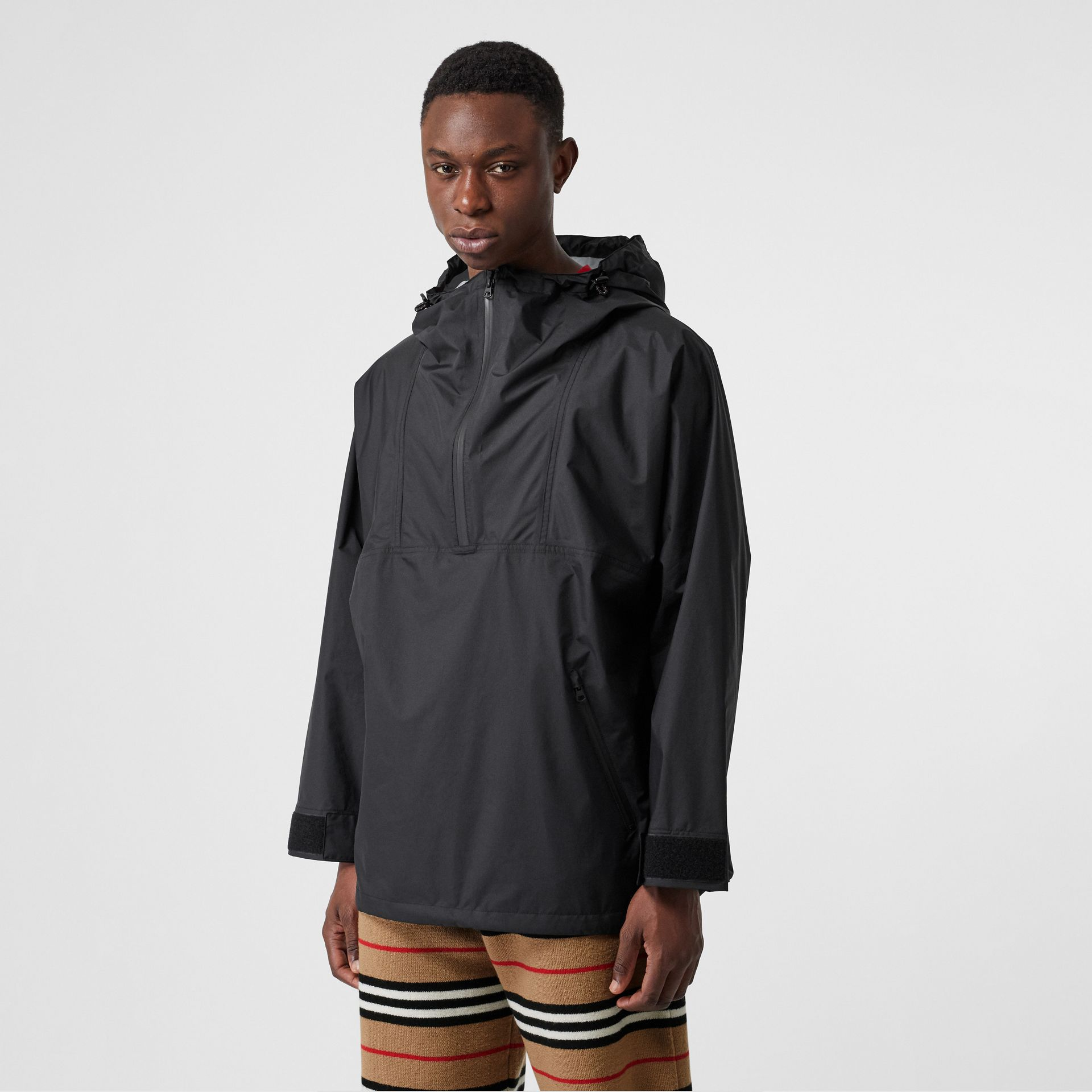 Logo Print Lightweight Cagoule in Black - Men | Burberry - gallery image 2