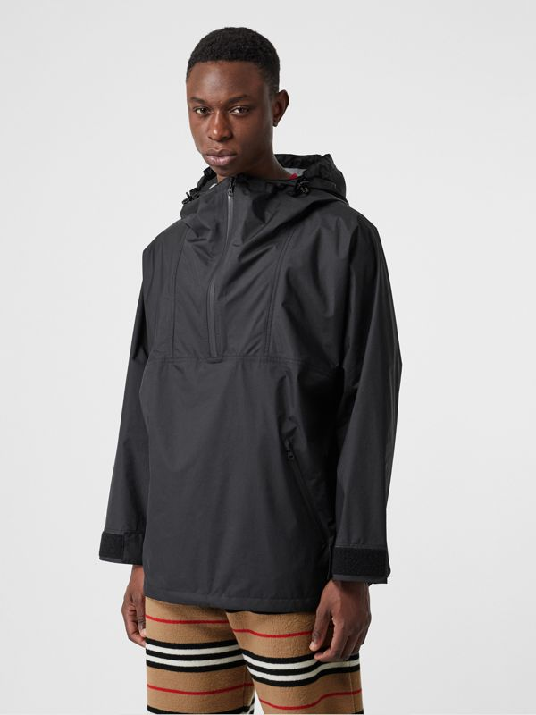 Logo Print Lightweight Cagoule in Black - Men | Burberry - cell image 2
