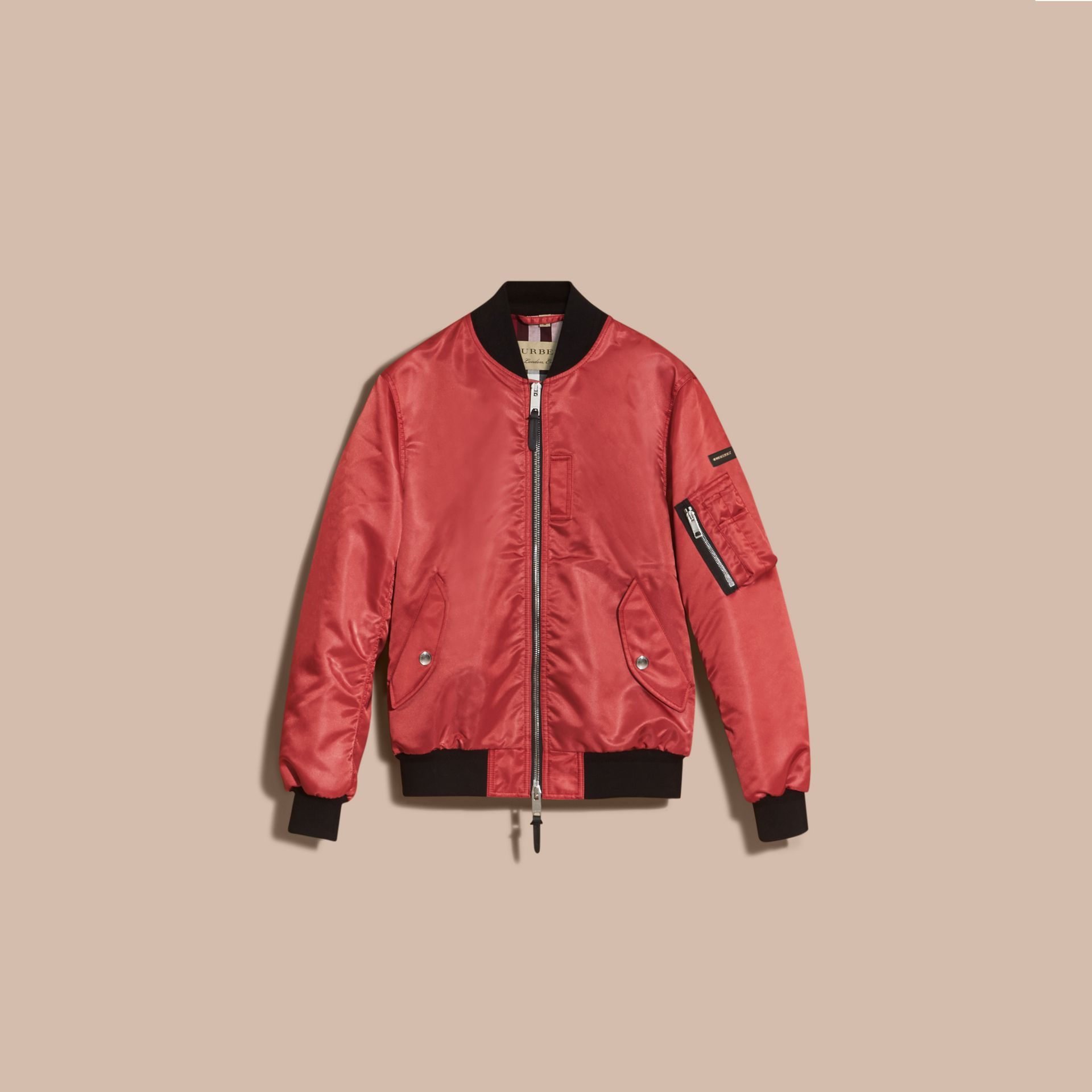 Technical Bomber Jacket in Rose Pink - gallery image 4