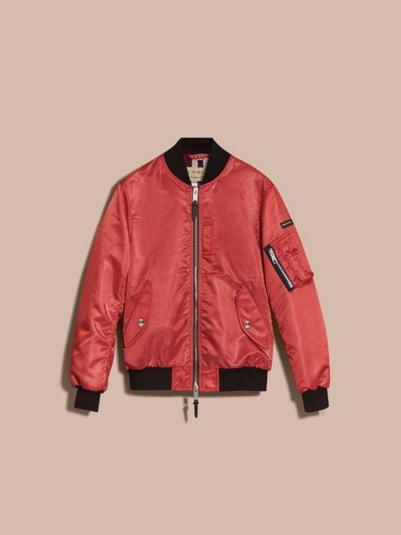 Technical Bomber Jacket in Rose Pink - cell image 3