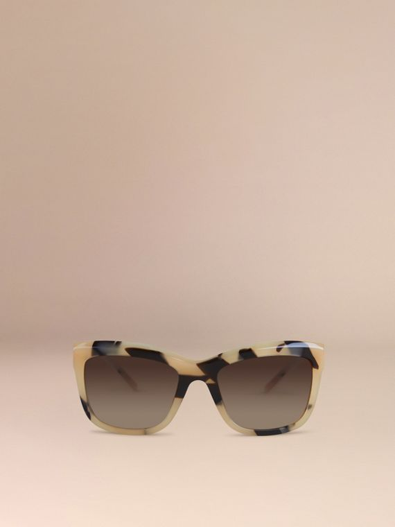 Mid tone horn Gabardine Lace Collection Square Frame Sunglasses Mid Tone Horn - cell image 2