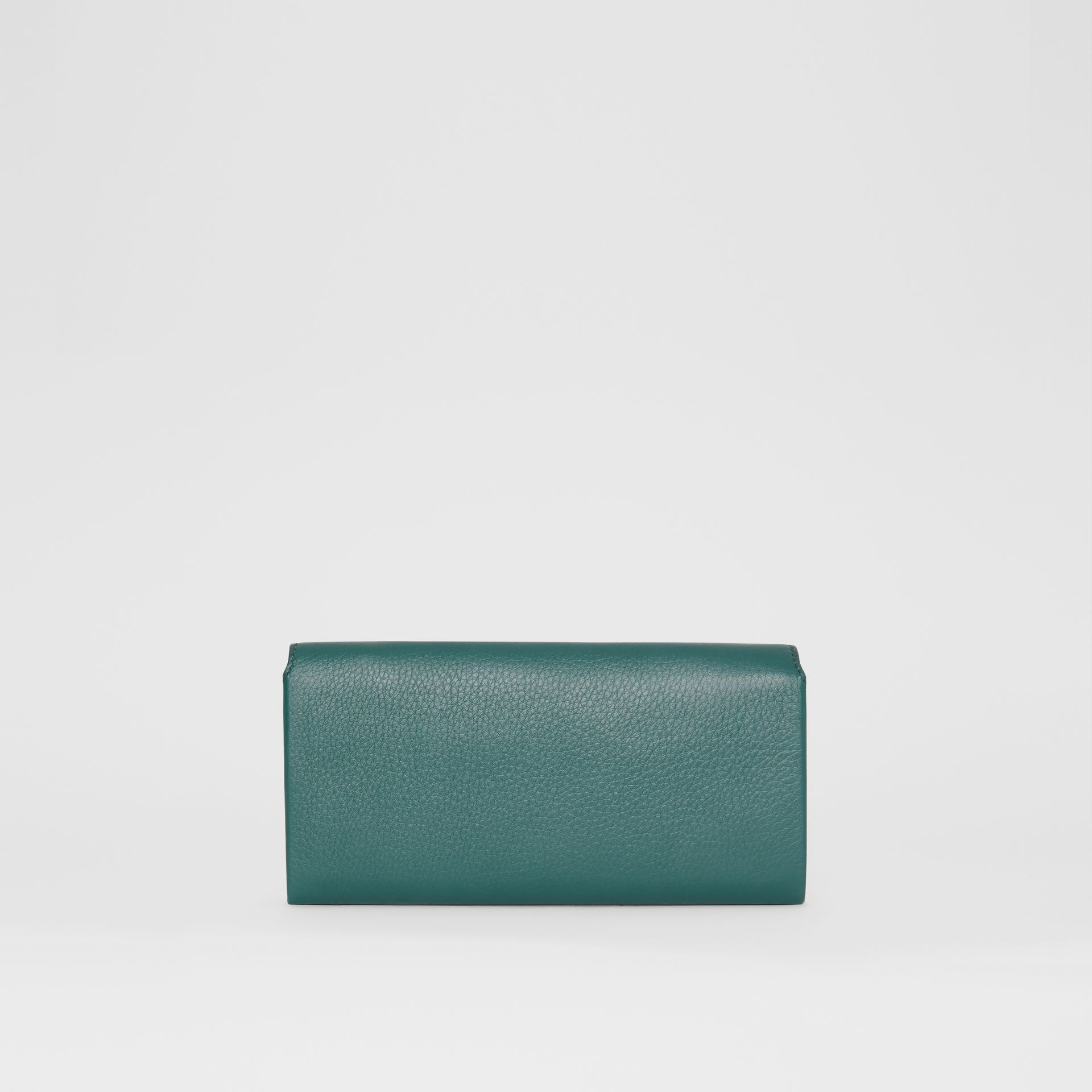Two-tone Leather Continental Wallet in Dark Cyan - Women | Burberry United Kingdom - gallery image 5
