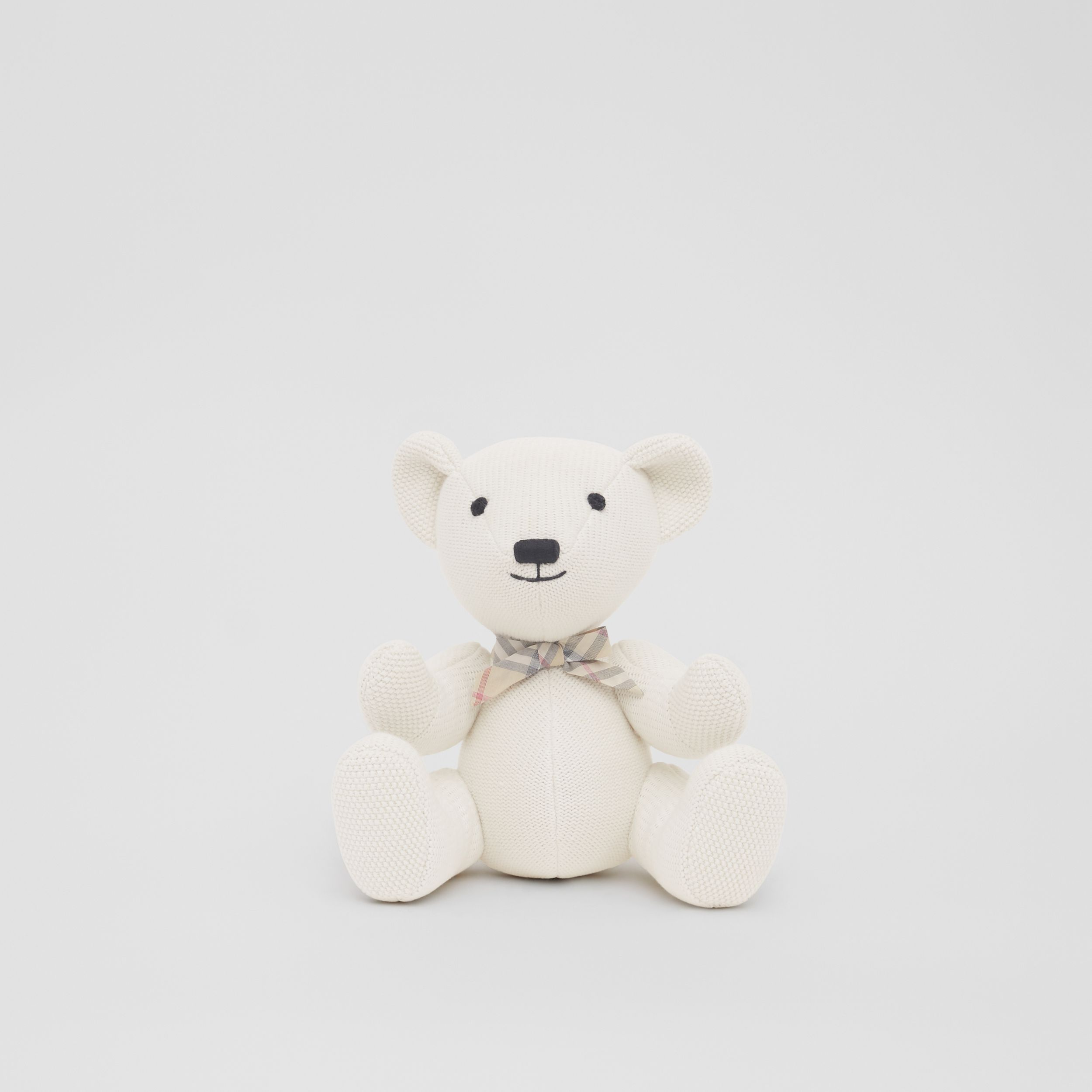 Cotton Cashmere Thomas Bear in Ivory - Children | Burberry - 1