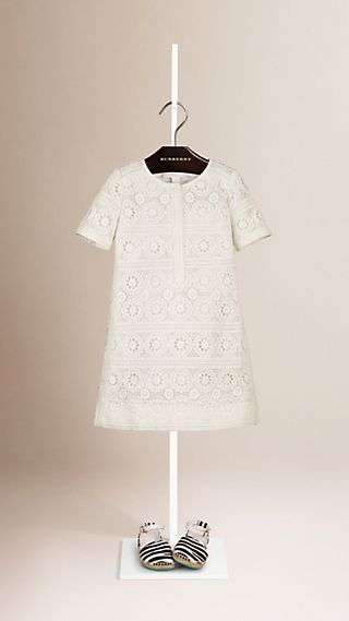 A-line Cotton Lace Dress