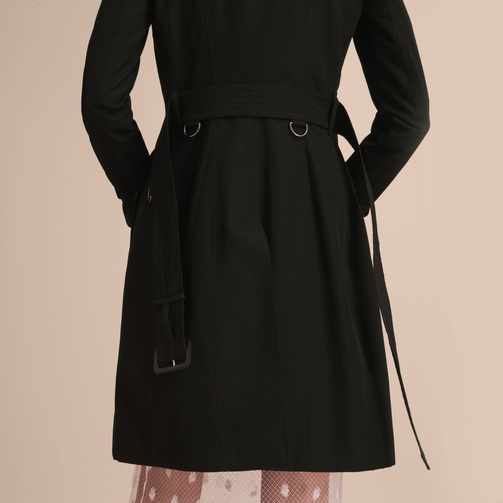 Black The Chelsea – Long Heritage Trench Coat Black - gallery image 6