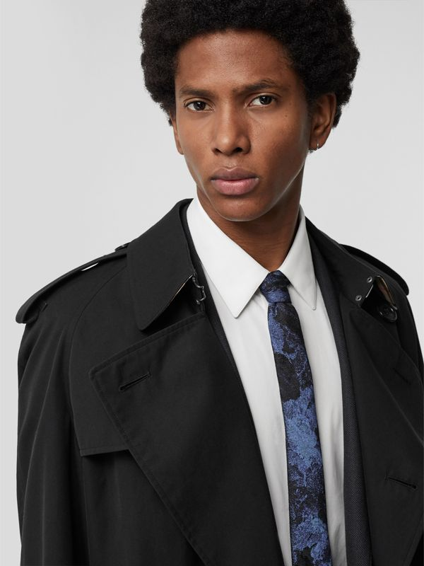 Slim Cut Dreamscape Wool Silk Jacquard Tie in Bright Navy - Men | Burberry United States - cell image 2