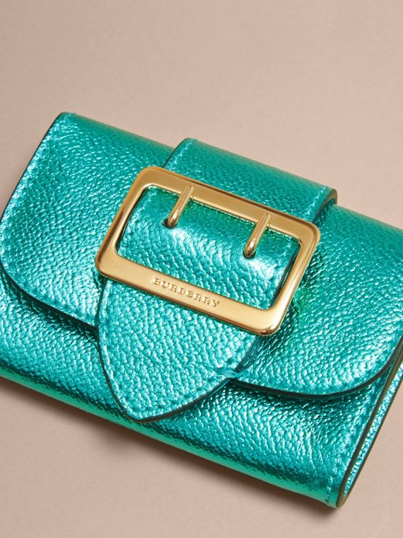 Metallic Leather Card Case in Emerald - cell image 2