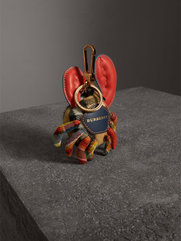 Paul The Crab Cashmere Charm in Antique Yellow/multicolour | Burberry United Kingdom - cell image 3