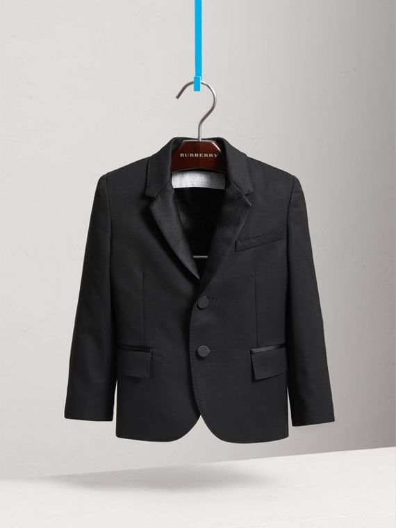 Wool Tuxedo Jacket in Black