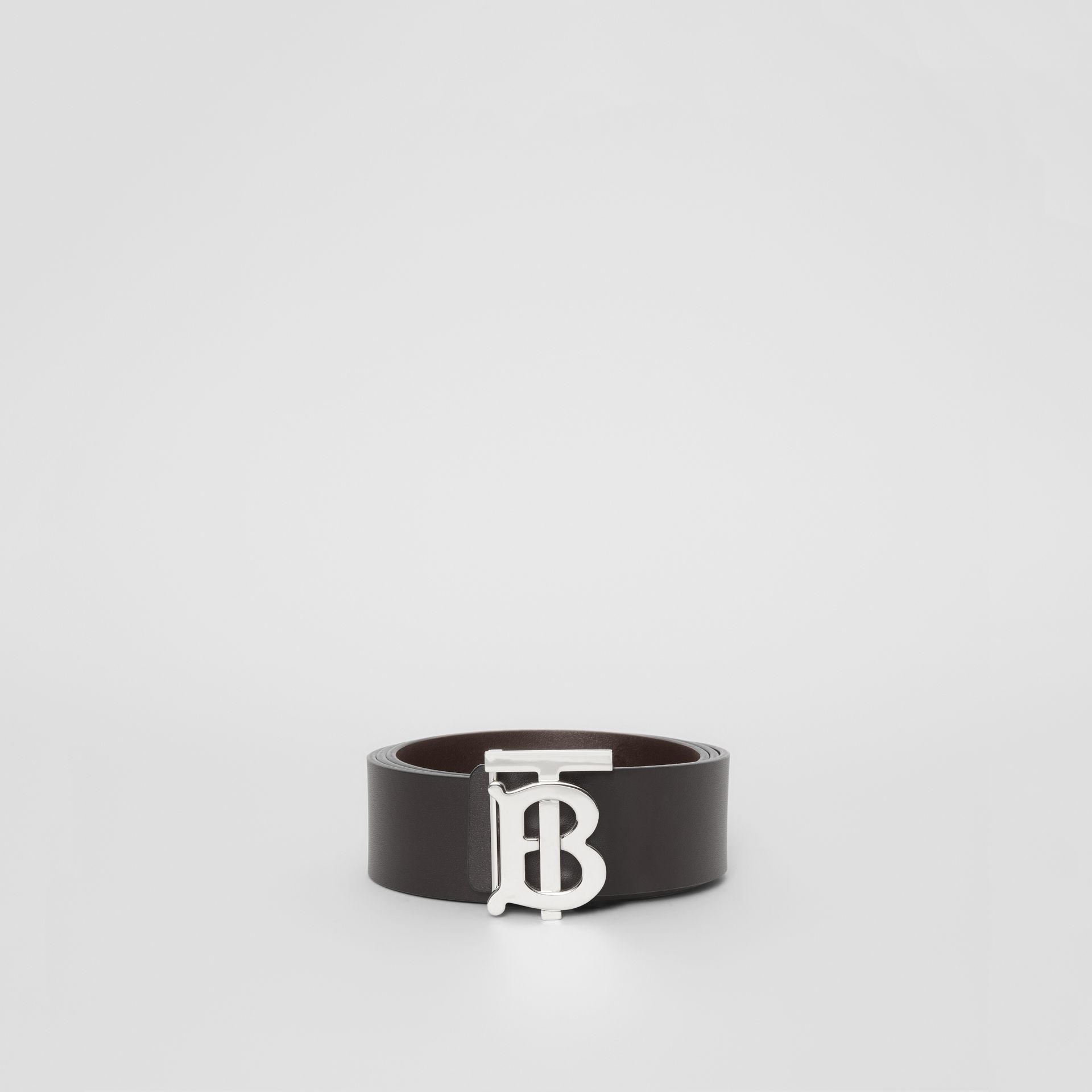 Reversible Monogram Motif Leather Belt in Black/malt Brown - Men | Burberry - gallery image 2